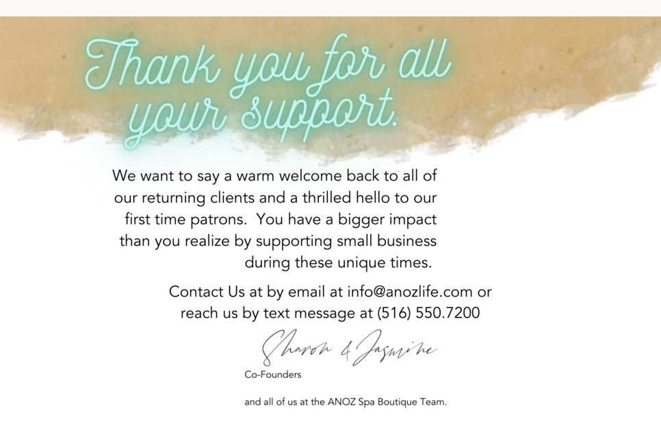 spa black owned business anoz