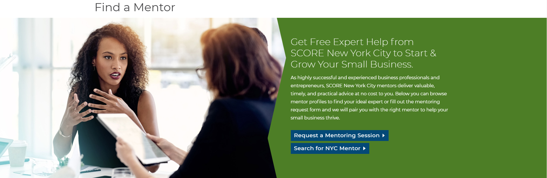 mentor score black business support
